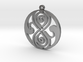 Rassilon - Necklace in Natural Silver
