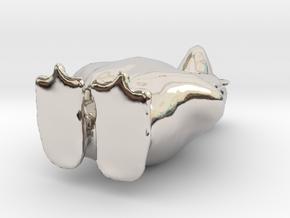 8697 in Rhodium Plated Brass