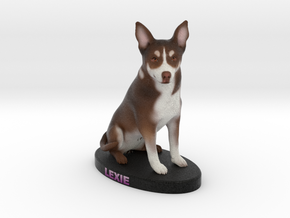 Custom Dog Figurine - Lexie in Full Color Sandstone