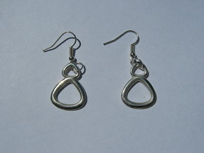 Torus Earrings in Polished Silver