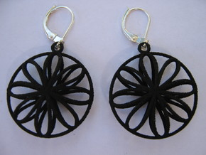 Double Viviani Earrings 2 in Black Natural Versatile Plastic