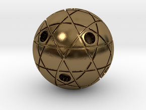 Small circles and stars 2 in Polished Bronze