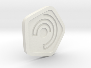 New Harmony Earrings | Flat Borders in White Natural Versatile Plastic