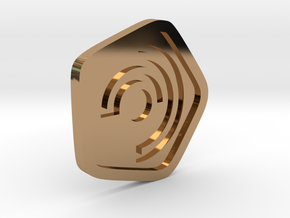 New Harmony Earrings   Flat Borders in Polished Brass