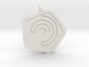 New Harmony Pendant | Flat Borders in White Natural Versatile Plastic