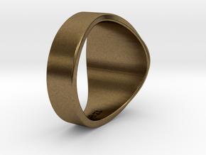 Muperball Wayne Ring in Natural Bronze