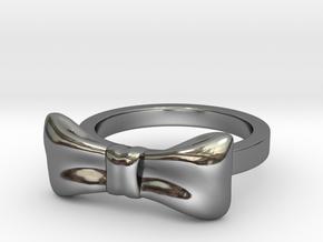 Bow Midi Ring in Premium Silver