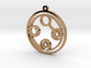 Belinda - Necklace in Polished Brass