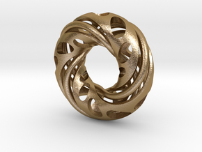 Double Eternity Symbol in Polished Gold Steel
