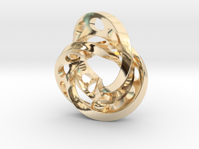 2-Twists in 14k Gold Plated Brass