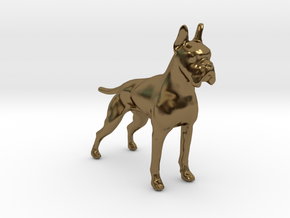 Red Fawn Boxer in Polished Bronze