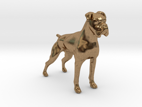 Brindle Boxer in Natural Brass