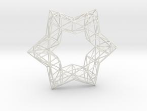 Xmas Star 100 in White Natural Versatile Plastic