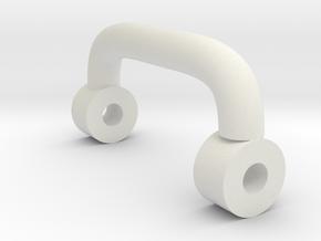 Toolbox Handle in White Natural Versatile Plastic