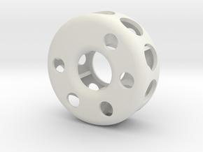 Hollow wheel in White Natural Versatile Plastic