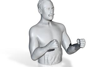 Overly Manly Man Meme Bust Bottle Opener in Polished Nickel Steel