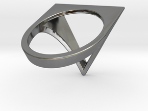 Triangle Ring - Sz5 in Fine Detail Polished Silver