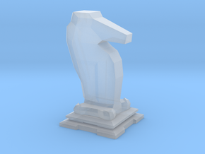 Knight - Mini Chess Piece in Smooth Fine Detail Plastic