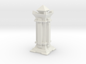 Queen - Mini Chess Piece in White Strong & Flexible