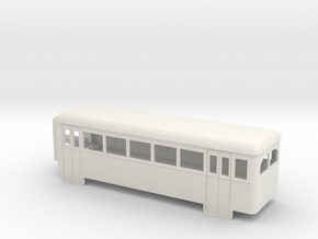 009 articulated railcar 5 window rear section in White Natural Versatile Plastic