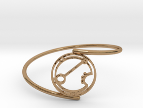 Ariana - Bracelet Thin Spiral in Polished Brass
