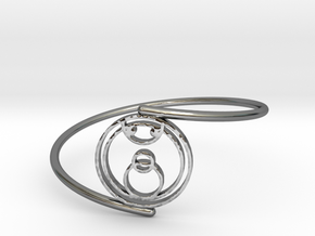 Joy - Bracelet Thin Spiral in Fine Detail Polished Silver