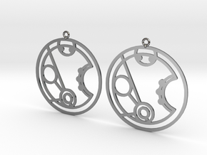 Merryn - Earrings - Series 1 in Fine Detail Polished Silver