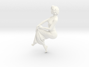 Lady sitting-025 scale 1/24 Passed in White Strong & Flexible Polished