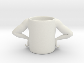 Strong Man Cup in White Natural Versatile Plastic