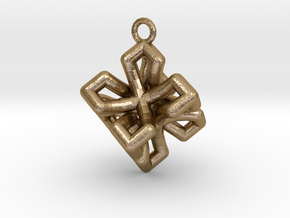 Platonic-2 in Polished Gold Steel