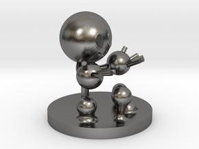Water molecule figure in Polished Nickel Steel