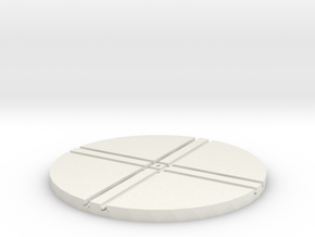 T-65-wagon-turntable-84d-100-1a in White Natural Versatile Plastic