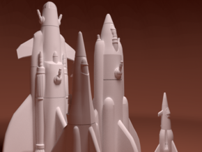 Martian War Rocket Fleet in White Strong & Flexible