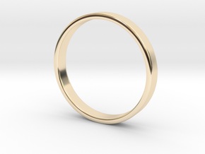 Simple Band Ring Size 6US/16.5mm EU in 14k Gold Plated Brass