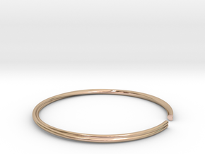 Mobius Hearts Bangle in 14k Rose Gold Plated Brass