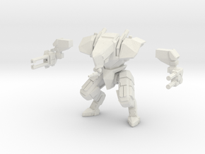 15mm scale mech -  Guardian in White Natural Versatile Plastic