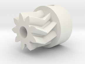 Herringbone Small Gear-1.1-highres in White Natural Versatile Plastic