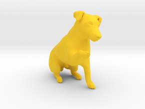 Begging Jack Russell Terrier in Yellow Processed Versatile Plastic