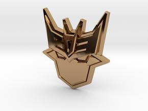 Doomie Badge of Doom in Polished Brass