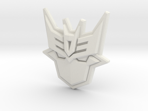 Doomie Badge of Doom in White Natural Versatile Plastic