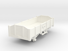 Carro aperto - open wagon H0m in White Strong & Flexible Polished