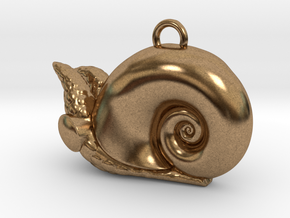 New Zealand Powliphanta  charm in Natural Brass