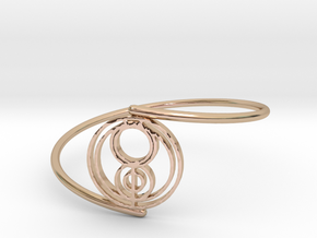 Jenna - Bracelet Thin Spiral in 14k Rose Gold Plated Brass