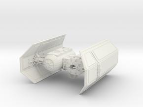 Tie Bomber in White Natural Versatile Plastic