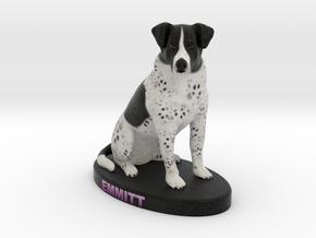 Custom Dog Figurine - Emmitt in Full Color Sandstone