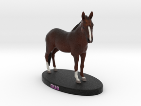 Custom Horse Figurine - Gus in Full Color Sandstone