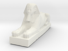 Hatshepsut Sphinx - Antiques in White Natural Versatile Plastic