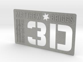 3D Executive Business Card in Metallic Plastic