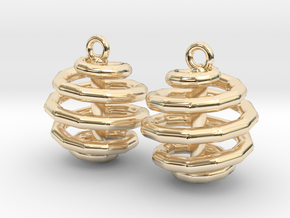 Ring-in-a-Ball-02-EarRing in 14k Gold Plated Brass