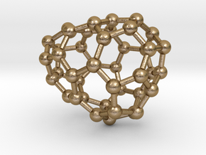 0185 Fullerene C42-2 c1 in Polished Gold Steel